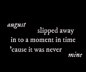 August, folklore, and Lyrics image