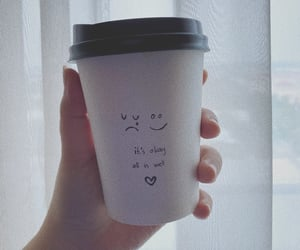 coffe cup, cup, and hand image