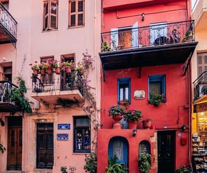 travel, building, and flowers image