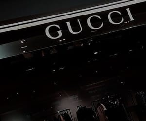 black, aesthetic, and gucci image