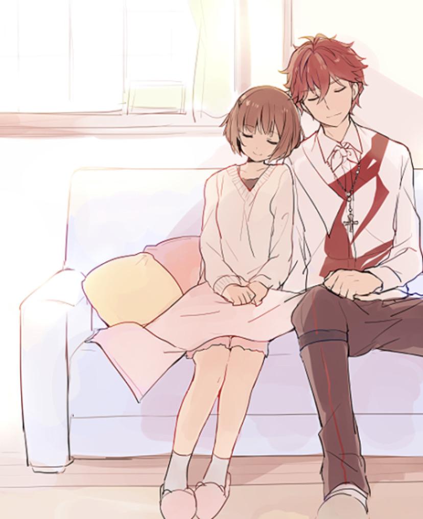 anime, couple, and lindo image