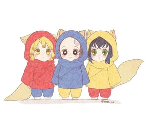 anime, demon slayer, and cute image