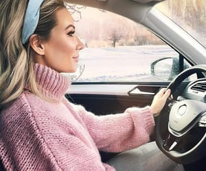 blonde girl, fashionista, and dream car image
