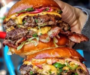 burger, food, and fast food image