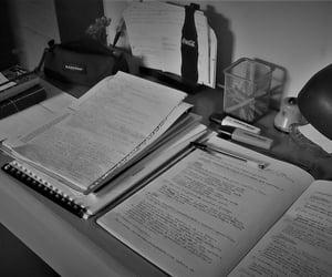 blackandwhite, studying, and books image