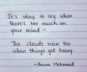 quotes, cry, and rain image