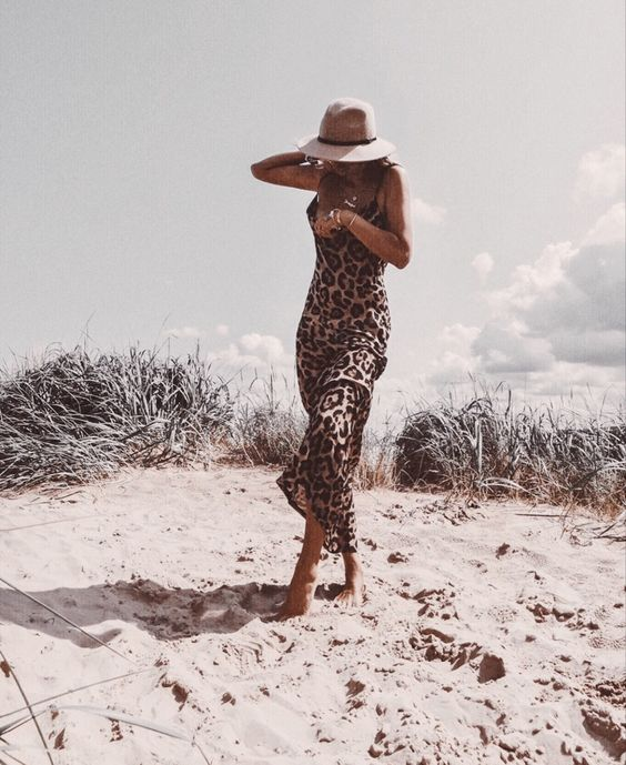accessories, animal print, and beach image