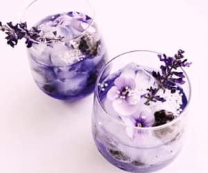 flowers, drink, and purple image