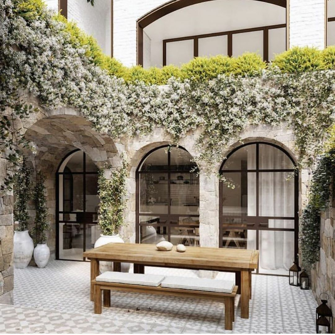 home, house, and courtyard image