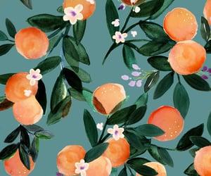 art, orange, and pattern image