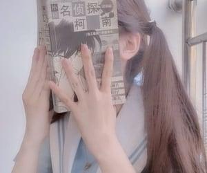aesthetic, manga, and schoolgirl image