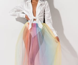 fashion, rainbow, and white image