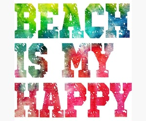 happy place, stickers, and beach quotes image