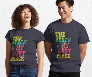 shirts, tees, and beach happy place image
