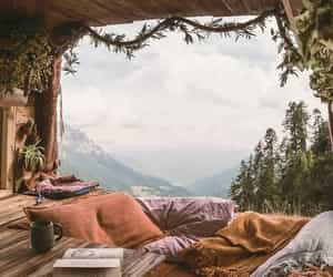 chilling and mountains image