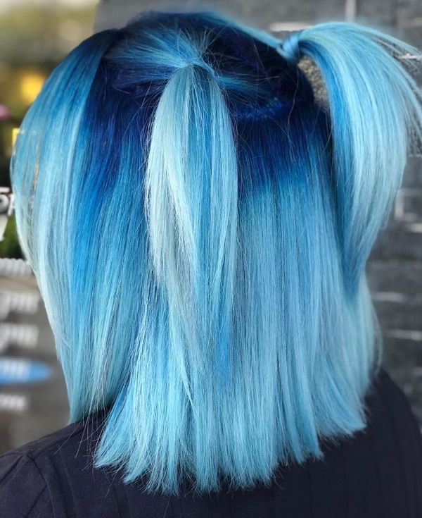 hair, blue hair, and hairstyle image