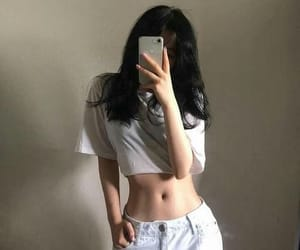 korean, skinny, and abs image