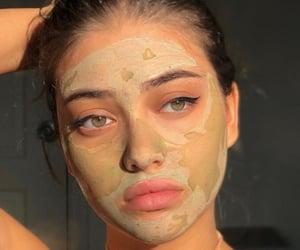 girl, beauty, and mask image