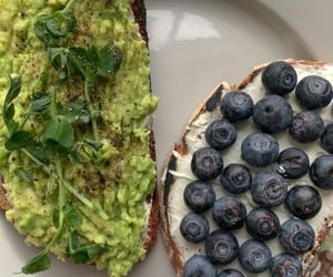 Avocado and blueberries toast