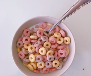 food, cereal, and pink image