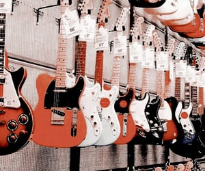 aesthetic, guitar, and music image