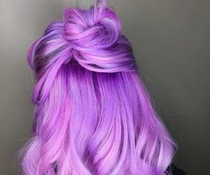 hair, beauty, and purple image