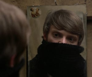 blond, mirror, and reflection image