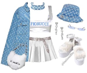 blue, denim, and fashion image