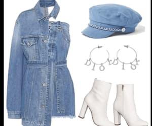 blue, cap, and denim image
