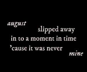 August, folklore, and Lyrics image
