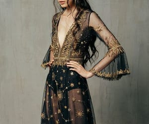 black and gold, golden, and bohemian image