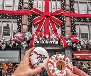 christmas, donuts, and holiday image