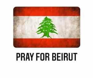 Beirut, lebanon, and bray for beirut image