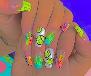 indie kids and nail inspo image