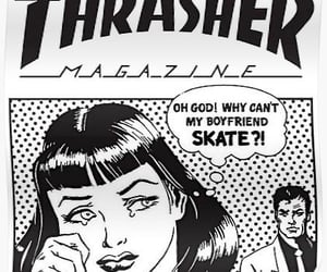 aesthetic, black and white, and comic art image
