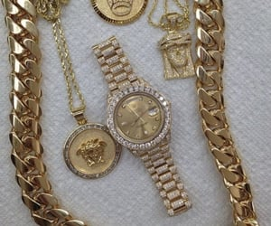 gold, luxury, and watch image