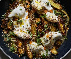 salad, courgette, and dukkah image