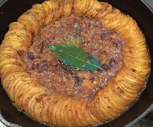 bake, potato gratin, and herb image