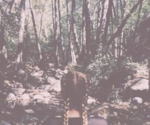 girl, trees, and green image