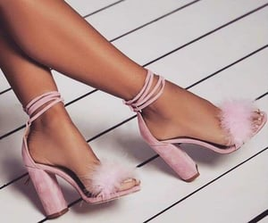 heels, shoes style, and pink shoes image