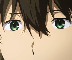 eyes, anime boy, and hyouka image
