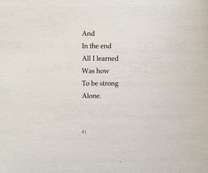 alone, quote, and quotes image