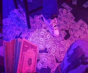 money, purple, and pink image