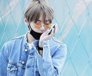 blue, jungkook, and taehyung image