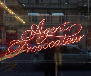 agent provocateur, sign, and lingerie image
