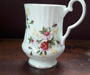 Royal Windsor White Porcelain Coffee Mug with a Gold Rim and image 0