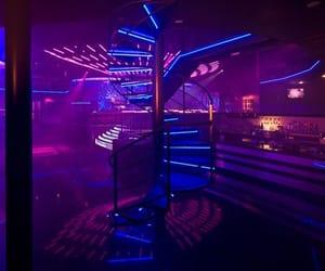 bar, blue, and club image