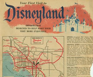 antique, disney, and map image