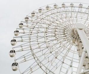 white, aesthetic, and ferris wheel image