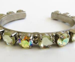 etsy, swarovski crystals, and cuff bracelet image